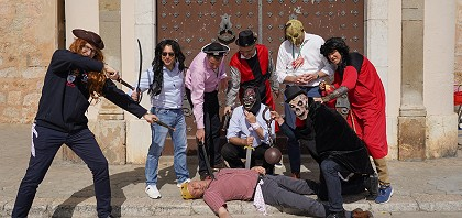 stag group dressed as pirates